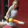 Saugus varsity softball player Christine Canada during indoor practice Tuesday March 23, 2010. Item Photo/ Reba M. Saldanha