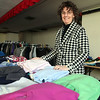 Dawn Johnson, co ordinator of the Close CLoset at Grace United Church in Wyoma Square wonders where the sign promoting her free clothing program went. Item Photo/ Reba M. Saldanha