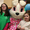 Brianna O'Flaherty, right, and Hailey Burke pose during a Parks and Recreation Department sponsored Bowling with the Easter Bunny event at Lucky Strike Lanes in Lynn Sunday March 28, 2010. Item Photo/ Reba M. Saldanha