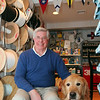 Lynn Marine Supply's Jim Norgaard poses with dog Wilson in his Marblehead shop Tuesday March 2, 2010. Item Photo/ Reba M. Saldanha