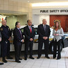 The Square One Mall in Saugus donated a new police car to the Saugus Police Department today. IN attendance for the event are from left to right: Scott Crabtree, Saugus Selectman,  Tom Gaeta Saugus Police, Donald Wong, Saugus Selectman, Andrew Bisignani, Saugus Town Manager, Saugus Police Chief Domenic DiMella, Susan Yee, Manager of Square One Mall, and Craig Vezina, head of Square One Mall.
