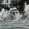 Waves at noon at Lynn Shore Drive.