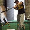 Returning player David Ruggiero during Bishop Fenwick practice in Peabody Tuesday March 30, 2010. Item Photo/ Reba M. Saldanha