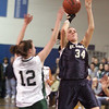 St. Mary's Bria Tiro during the MIAA Div 3 north semi-final at St. John's Prep Wednesday March 3, 2010. Item Photo/ Reba M. Saldanha