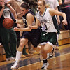 St. Mary's Bria Tiro  and Pentucket's Emily Lane  during the MIAA Div 3 north semi-final at St. John's Prep Wednesday March 3, 2010. Item Photo/ Reba M. Saldanha