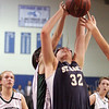 St. Mary's Tori Faieta and Pentucket's Abby Stephenson during the MIAA Div 3 north semi-final at St. John's Prep Wednesday March 3, 2010. Item Photo/ Reba M. Saldanha