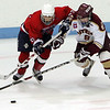 Lynn Jets Bucky Surrette and Concord-Carlisle's James Terhune in the Division 3 North semifinal at the Chelmsford Arena Thursday March 4, 2010. Item Photo/ Reba M. Saldanha