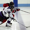 Marblehead's Anders Gunderson and shawsheen's Anthony Leggeri in the Division 2 North semifinal at the Chelmsford Arena Thursday March 4, 2010. Item Photo/ Reba M. Saldanha
