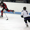 Marblehead's Ryan Dempsey and shawsheen's Michael Digiorgio in the Division 2 North semifinal at the Chelmsford Arena Thursday March 4, 2010. Item Photo/ Reba M. Saldanha