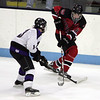 Marblehead's Jake Kulevich and shawsheen's Joseph Sodergren in the Division 2 North semifinal at the Chelmsford Arena Thursday March 4, 2010. Item Photo/ Reba M. Saldanha