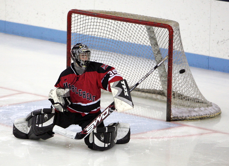 Marblehead's Tony Cuzner in the Division 2 North semifinal at the Chelmsford Arena Thursday March 4, 2010. Item Photo/ Reba M. Saldanha