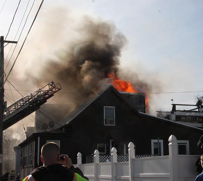 Fire at 59 River Street in Lynn.