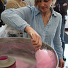 Winter Fest at Johnson School in Nahant, Saturday. P.T.O President Lora Long making some cotton candy.