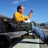 Michael Greene of Lynn plays the banjo along the Swampscott waterfront Monday March 8, 2010. Item Photo/ Reba M. Saldanha