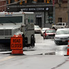 Day two of flooding. Central Street in Peabody Square at noon today.l