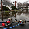 Day two of flooding. Pumps from Lynn Water and Sewer work at Shoemaker Road in Lynn today.