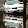 Day two of flooding. A car on shoemaker Road in Lynn today.