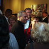 Gov Deval Patrick greets the crowd during a campagin stop at the Blue Ox on Oxford St in Lynn Sunday April 11,2 010. Item Photo/ Reba M. Saldanha