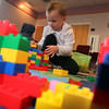 Rory Carvalho, 4, plays with legos at SAugus Library Monday April 12, 2010. Item Photo/ Reba M. Saldanha