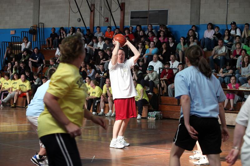 Rick Piecewicz during the Belmonte Middle School teacher/student basketball game Wednesday April 14, 2010. Item Photo/ Reba M. Saldanha