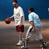 Rick Piecewicz and Anthony Freni during the Belmonte Middle School teacher/student basketball game Wednesday April 14, 2010. Item Photo/ Reba M. Saldanha