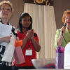 From left to right: Joan Lawrence, April Fana, and Pat Driscoll draw raffle tickets at the 22nd annual luncheon at the Danvers Port Yacht Club.