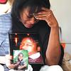 Lynn resident Berverly Turner speaks about the homicide of her son Shaundell Turner in her Essex Street home Thursday APril 15, 2010. Item Photo/ Reba M. Saldanha