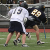 Using your head. Derek Stella, 19, St. Mary's struggles for the ball against an opponent from Arlington Catholic.