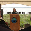 Judith Flanagan Kennedy was one of the featured speakers at the power line relocation ground breaking.