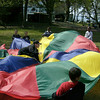 Elias McDonald and classmates from the Hathaway School in Swampscott play a game of cat and mouse at Hadley School Park on Thursday April 22, 2010.  Photo/ Cailah M. Moschella.