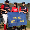 Left to right: Andre Gaudet, Cassie Pagostino, Anthony Ross, Pine Hill Little League.