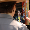 Ranger Michelle Blees swears in new Junior Rangers on Saturday at the Saugus Iron Works that included Brianna McLaren who has 16 Junior ranger Badges from across the country.