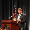 Ted Kennedy Jr speaks at Salem State College Tuesday April 27, 2010. Item Photo/ Reba M. Saldanha