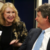 Ted Kennedy Jr and mother Joan Bennett Kennedy during a press conference before speaking at Salem State College Tuesday April 27, 2010. Item Photo/ Reba M. Saldanha