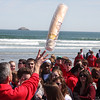 Passing out paper cups to over 200 kids who turned out to celebrated Good Friday in Nahant.
