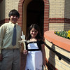 Jeffrey and Angelica Rego at St. George's Church in Lynn Easter Sunday April 4, 2010. Item Pohot/ Reba M. Saldanha