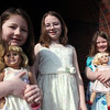 (from left) Brynn, 5, Emma, 8, and Maegan, 7, Willey  at St. mary's Church in Lynn Easter Sunday April 4, 2010. Item Pohot/ Reba M. Saldanha