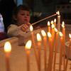 Anna Demba, 5 , at St. George's Church in Lynn Easter Sunday April 4, 2010. Item Pohot/ Reba M. Saldanha