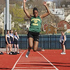 Tashanna Brown during the Swampscott Classical track meet at Manning Field Monday APril 5, 2010. Item Photo/ Reba M. Saldanha