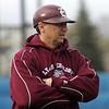 Lynn English coach Joe Caponigro at Fraser Field on Thursday April 8, 2010.  Item Photo/ Reba M. Saldanha.