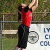 Ariana Freddo making catch in left field.