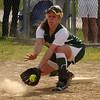 Olivia Dujure first base.