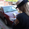 Colleen Fitzerald writing a ticket in Lynn today.