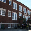 The Lynn Fire Department held exercises in the O'Keefe School on Franklin street today.