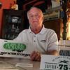 50 year Suffolk Downs employee John Werner poses in his Lynn home Thursday May 13, 2010. Item Photo/ Reba M. Saldanha