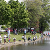 Crowds lined the shore during the Lynn Mass Bass club's annual youth fishing derby at Flax Pond in Lynn Sunday May 16, 2010. Item Photo/ Reba M. Saldanha