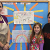 Lily Guerrette, grade 3, and Lexia Pires, grade 5 both of the Aborn School in Lynn, picturered her with their art teacher Rebecca White, won the regional art contest about the census and will have their work displayed at the State House for a month beginning this Friday.
