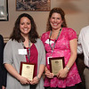 Guidance Counselors Matthew Wilkins, English High, Jessica Toomey, Classical High, and Heather Toomey, Lynn Tech.were presented awards by Dennis Thompson, a Laura Spearnza Award Winner from last year, at the sixth annual Communities That Care award luncheon today.