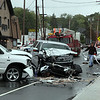 A three car accident near the intersection of Hamilton and Boston Streets on the Lynn/Saugus line Wedensday May 19, 2010. Item Photo