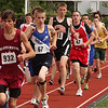 Shiloh Clark, 67, in the two mile at the Northeastern Conference Track meet held at Manning Filed on Saturday.